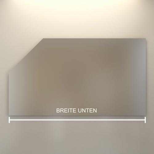 Badspiegel Mit Schrage Tommen Dezente Effektvolle Beleuchtung