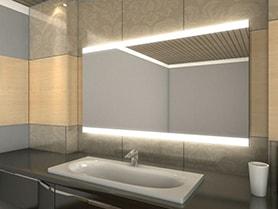 Badspiegel Beleuchtet Led.Led Badspiegel Nach Maß Konfigurieren Sie Jetzt Selbst