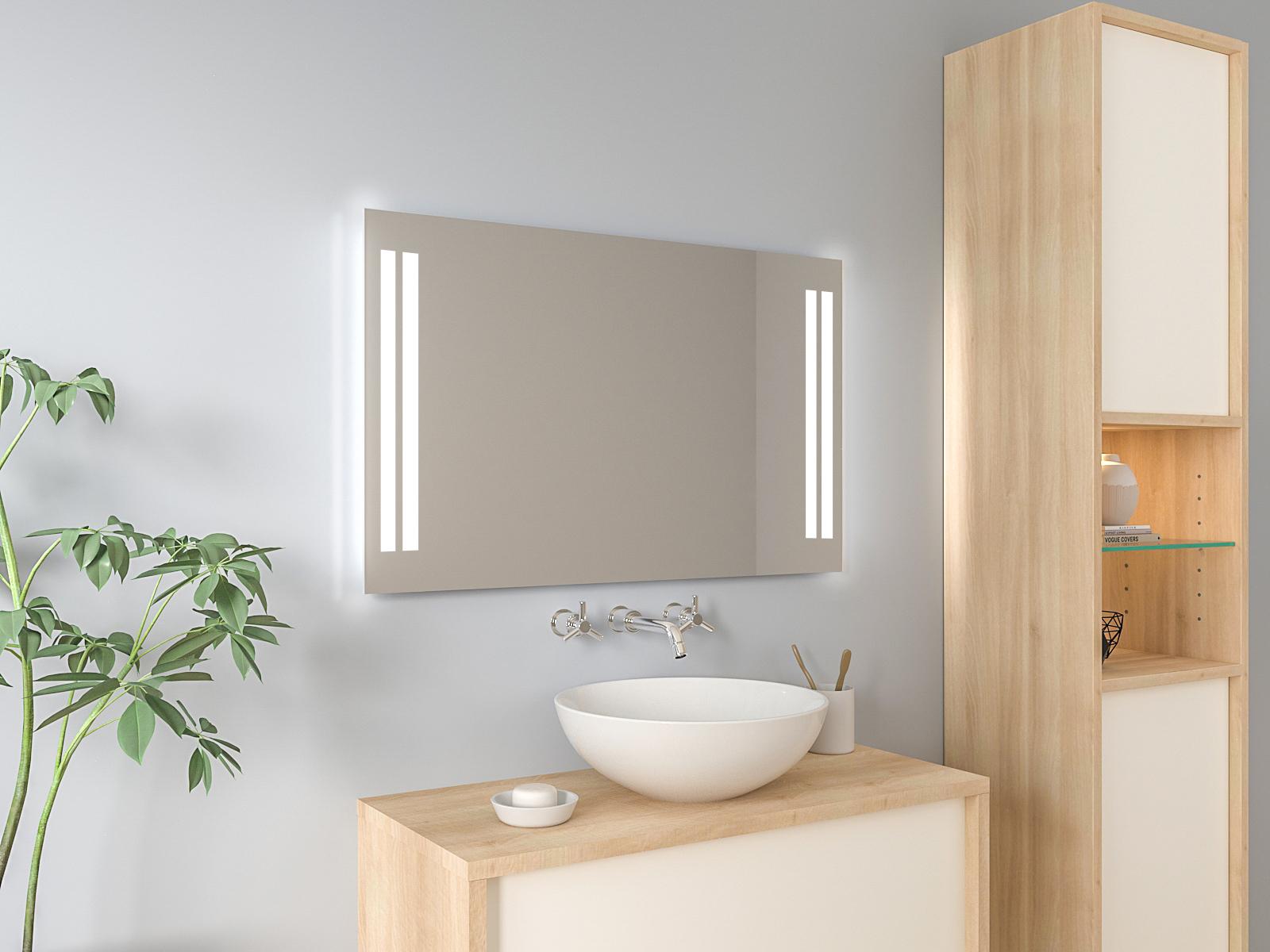 Badspiegel mit LED Beleuchtung - Toke