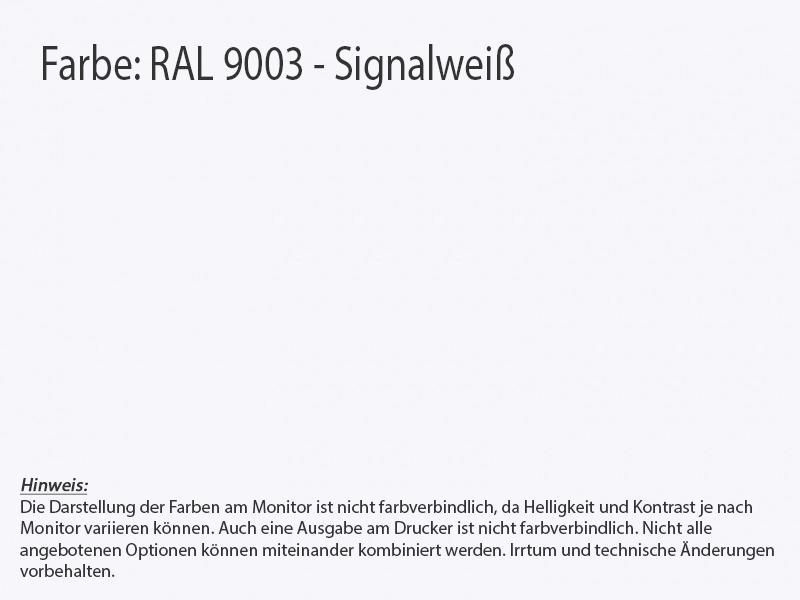Küchenrückwand alpinweiss RAL 9003
