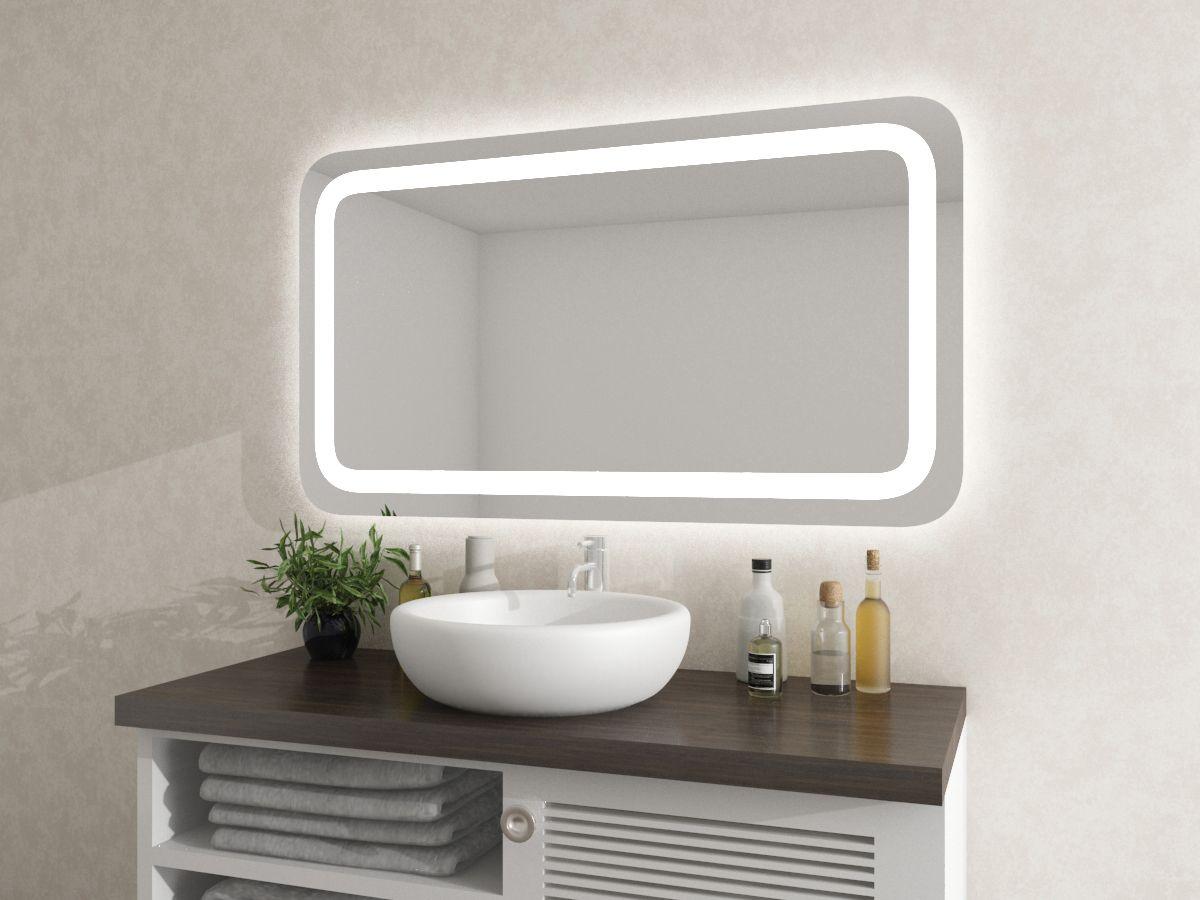 Spiegel mit runden Ecken - Nattfari