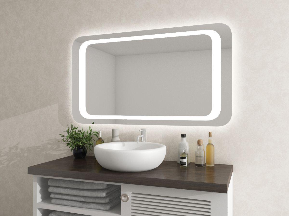 Spiegel mit runden Ecken - Lysinja