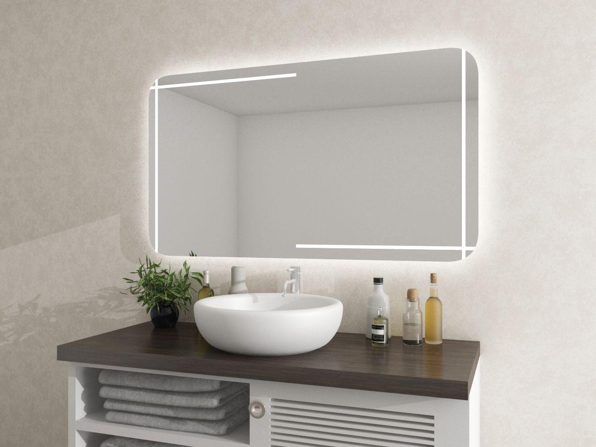 Spiegel mit runden Ecken - Vilja