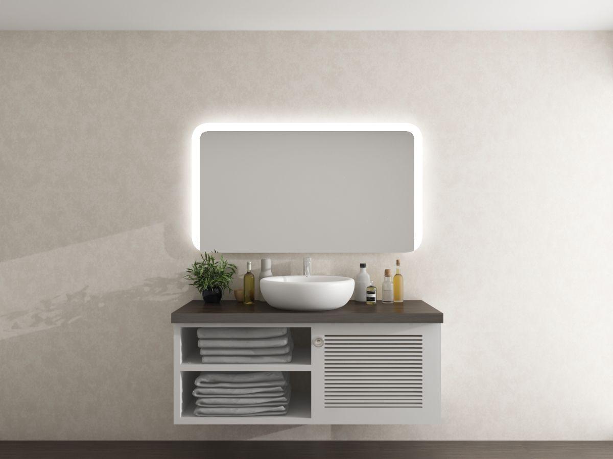 Wandspiegel mit runden Ecken - Nighils