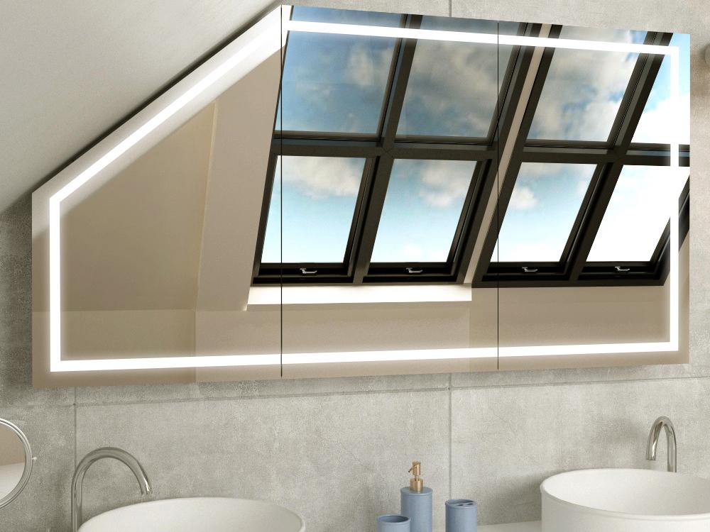 Bad Spiegelschrank für Bad Schräge Bryne