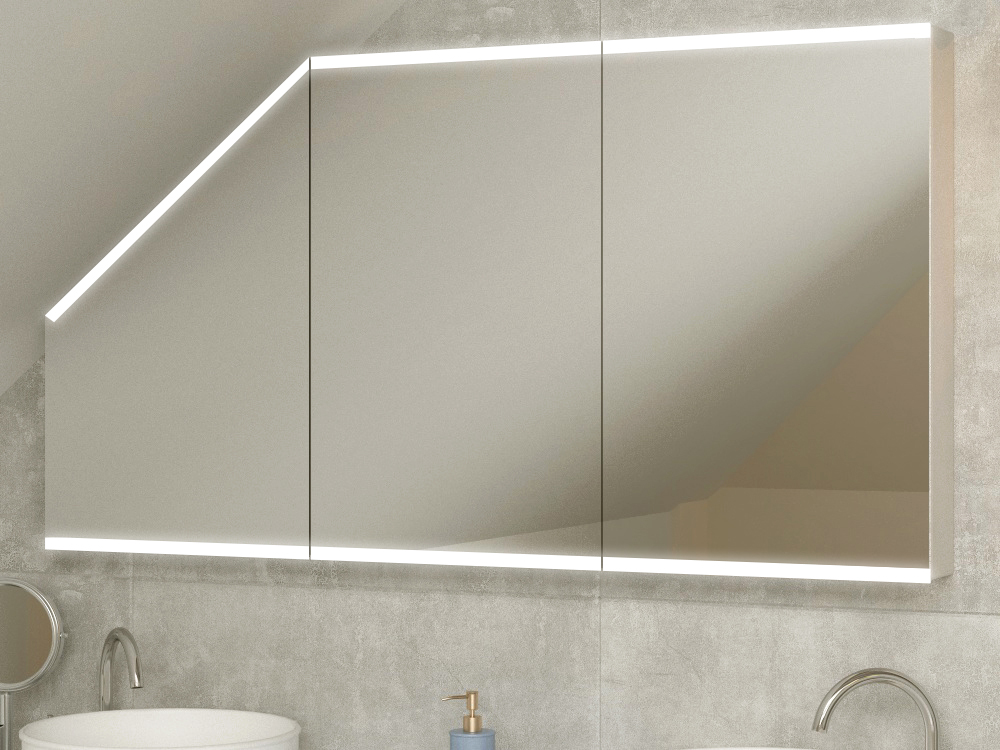 Einbau Spiegelschrank für Dachschräge Fauske