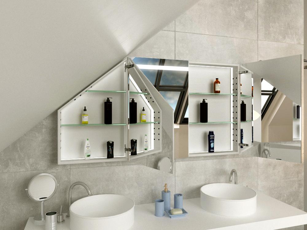 Spiegelschrank für Dachschräge Horten
