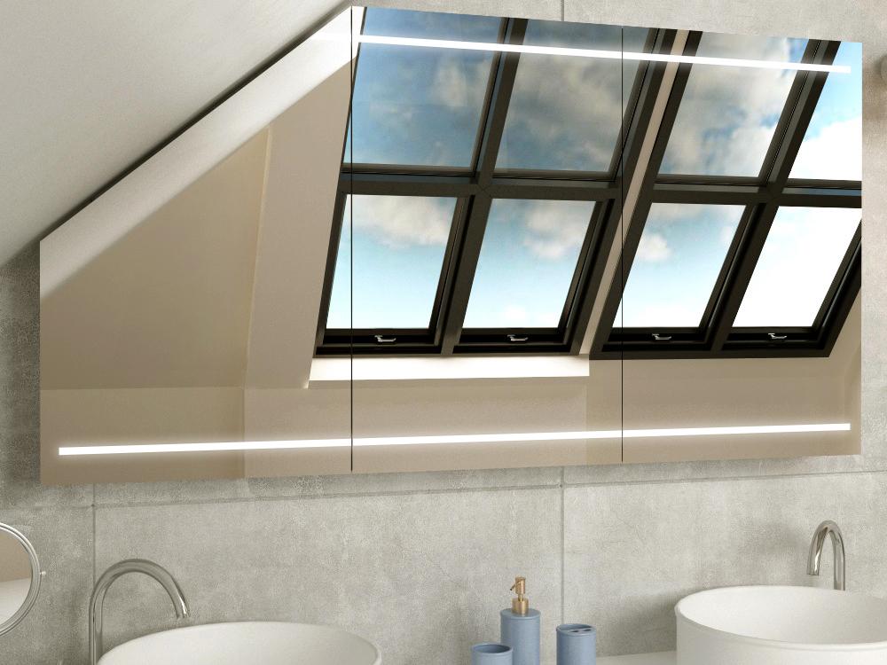 Badschrank für Dachschräge Larvik