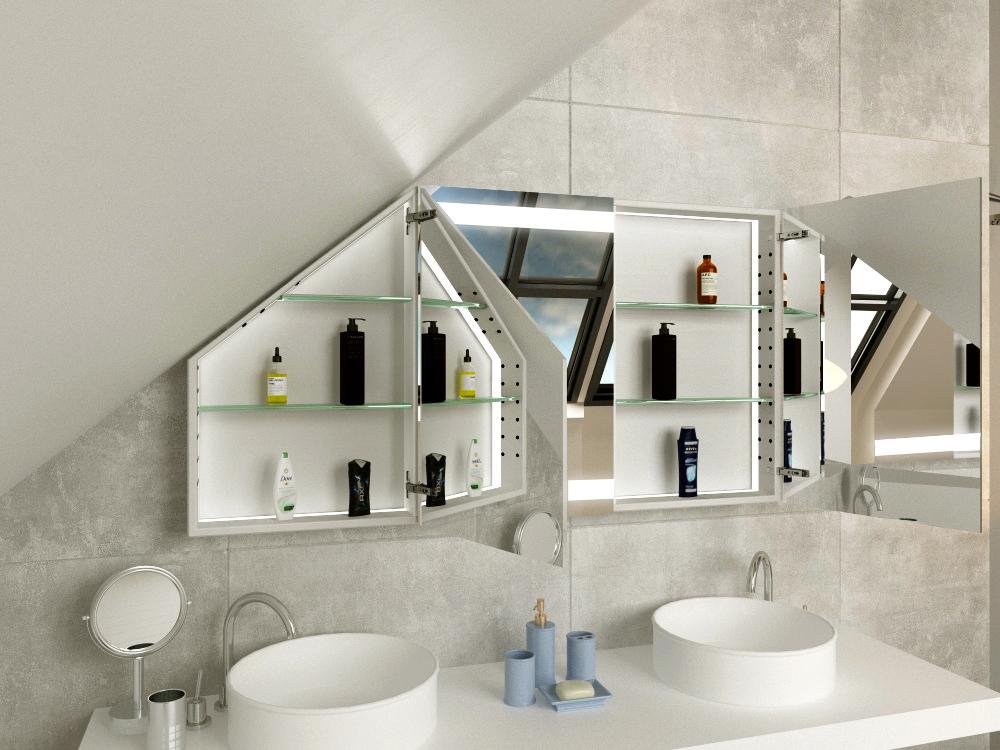 Spiegelschrank für Dachschräge Lulea