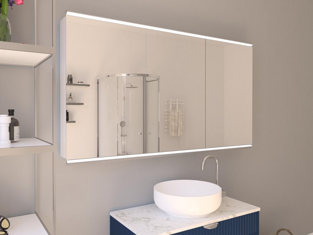 Spiegelschrank Thure Leuchtprofil oben und unten