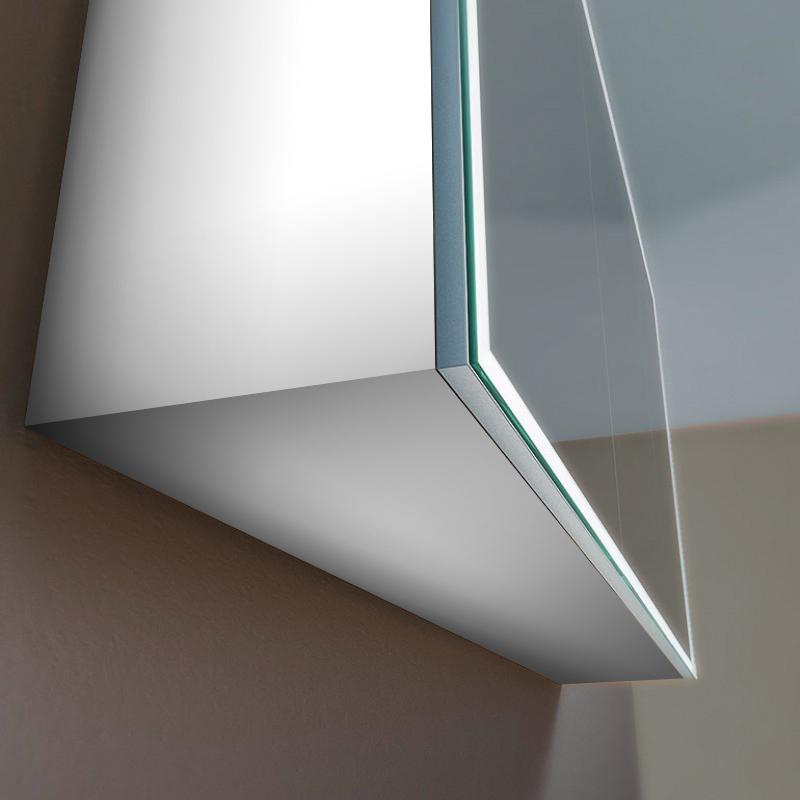 Spiegelschrank Vince mit Designprofilen rundherum