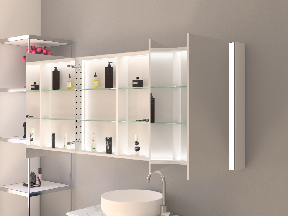 Spiegelschrank Arvid mit Direktbeleuchtung rechts links