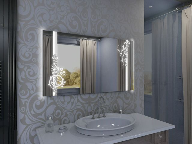 Spiegel mit LED Kersta
