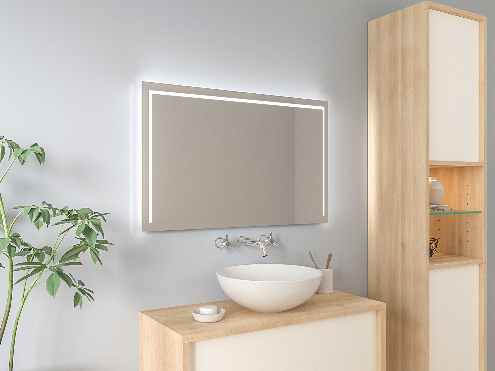 Badspiegel mit LED Beleuchtung - Atle