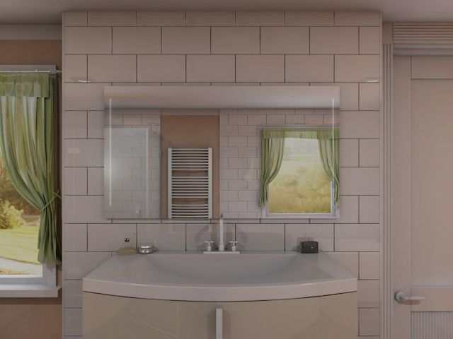Badspiegel mit LED Beleuchtung - Erene