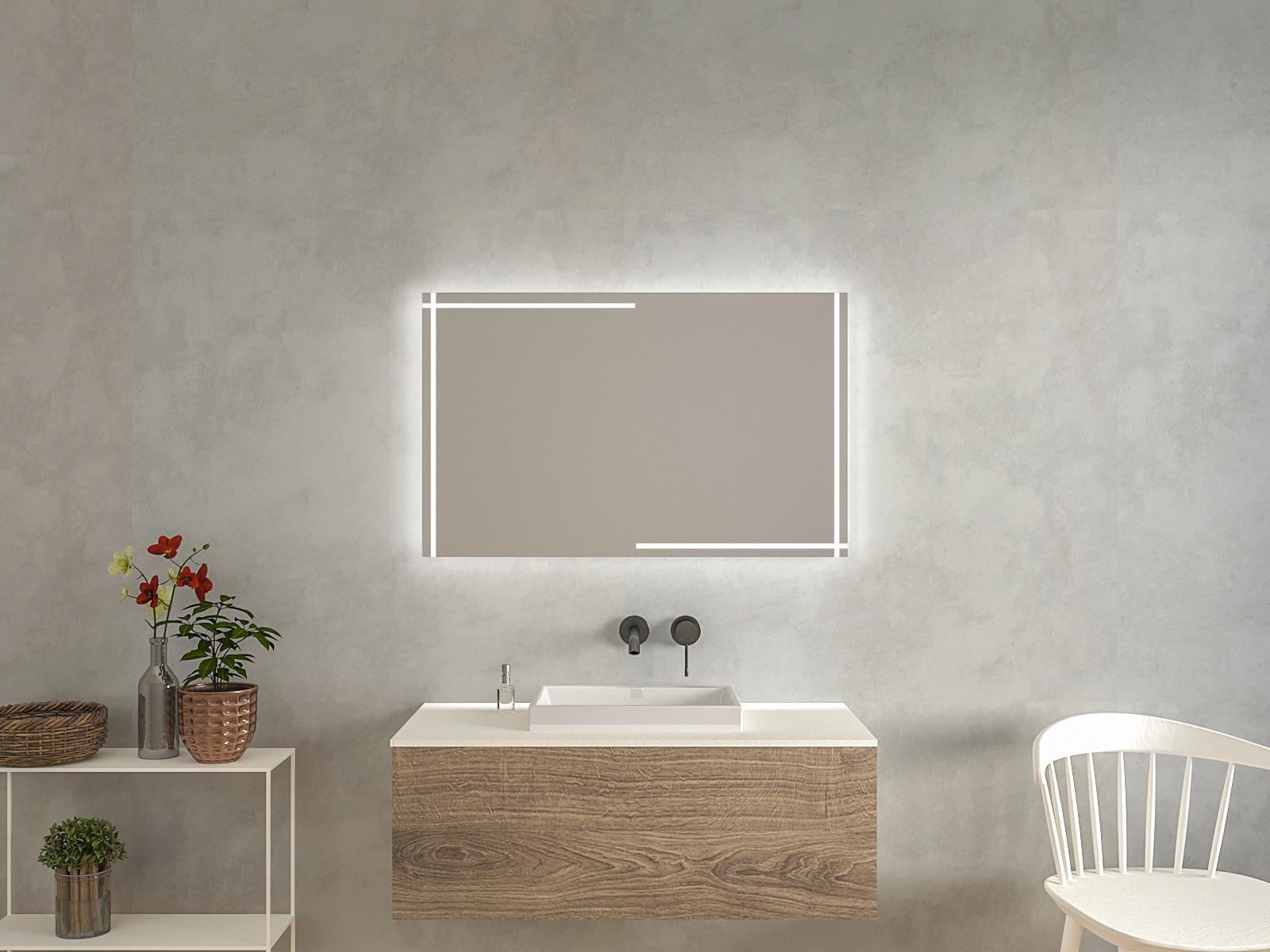Badspiegel mit LED Beleuchtung - Halla