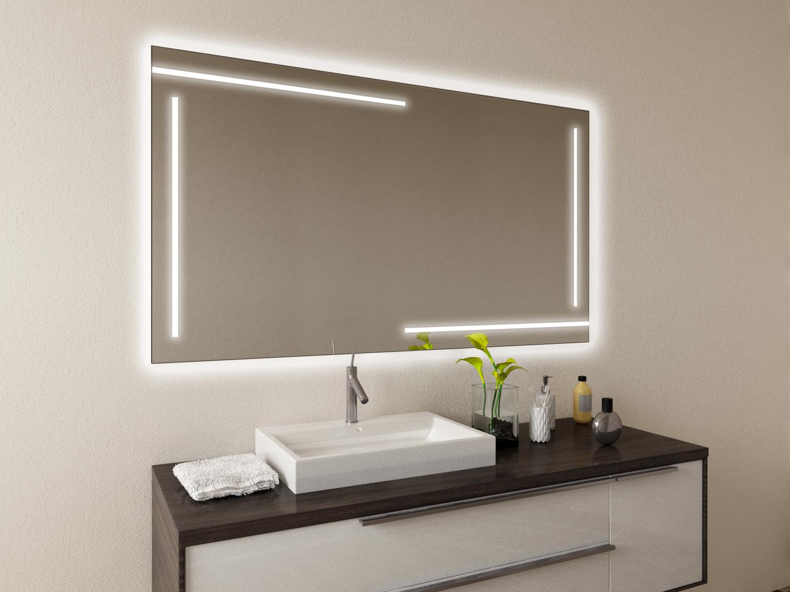 Badspiegel mit LED Beleuchtung - Hildis