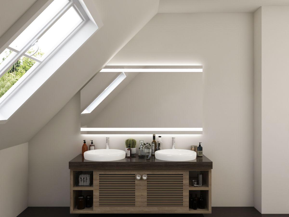 LED Badspiegel mit Dachschräge - Torid
