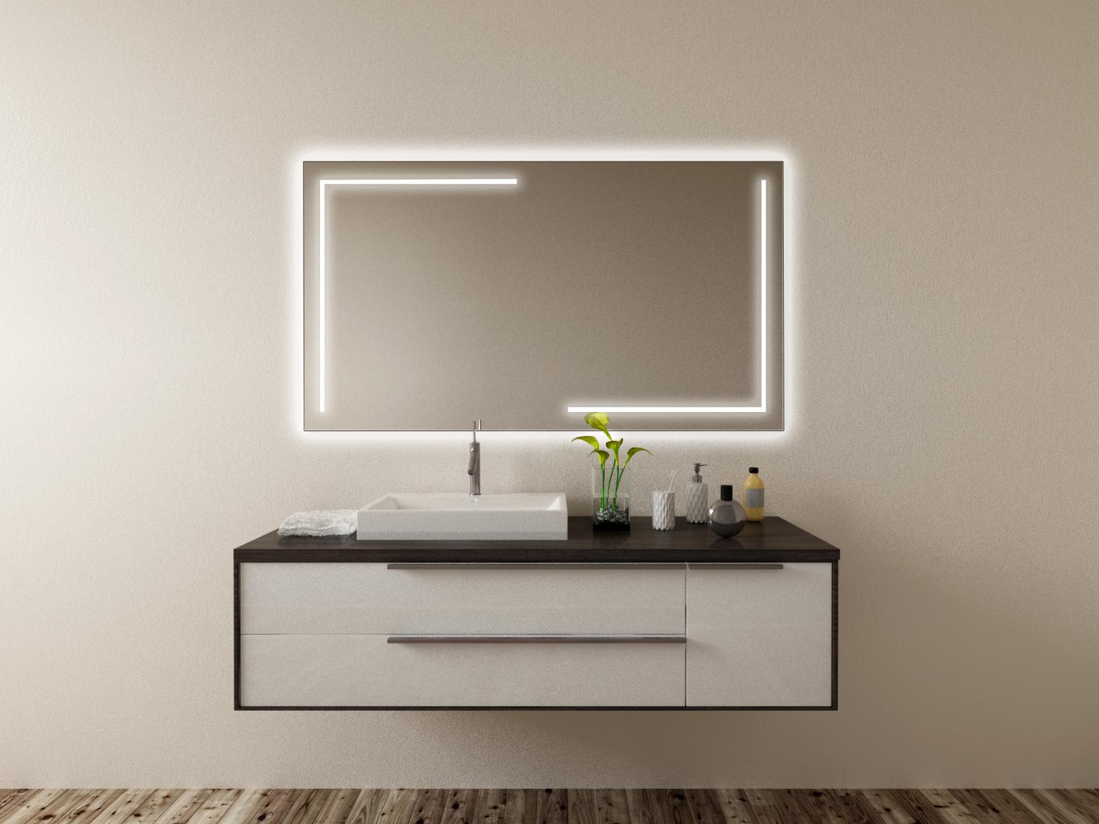 Badspiegel mit LED Beleuchtung - Thage