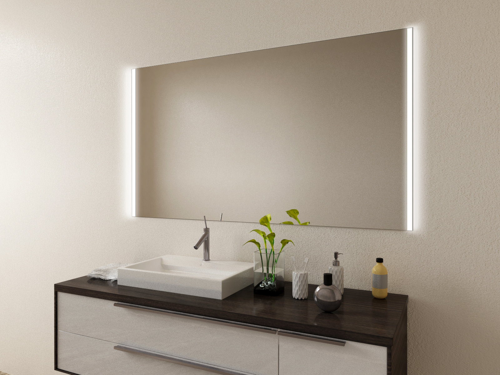 Badspiegel mit LED Beleuchtung - Tone
