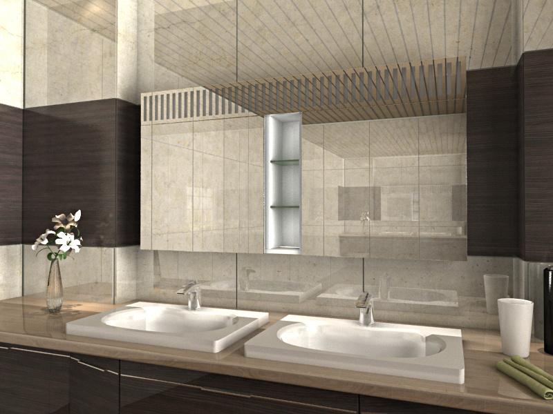 Badschrank mit Licht Askim