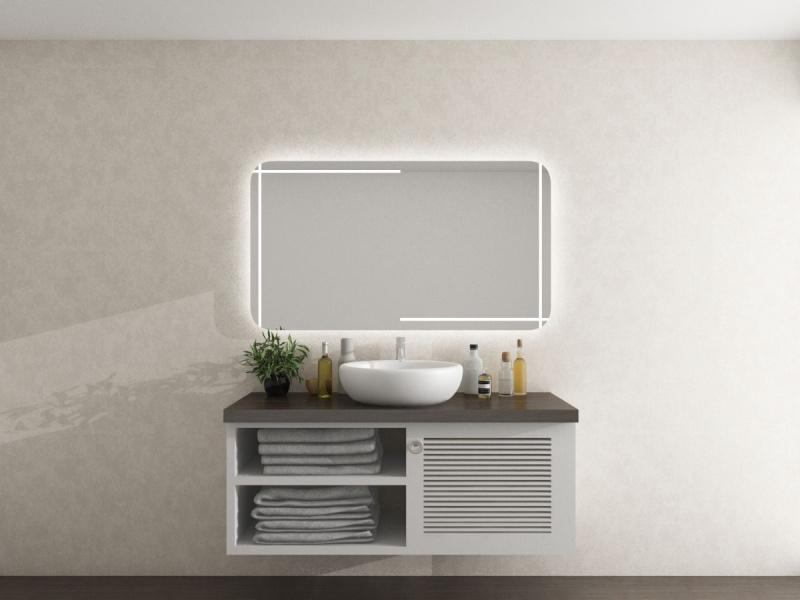 Badezimmerspiegel Made in Germany mit runden Ecken Vilja