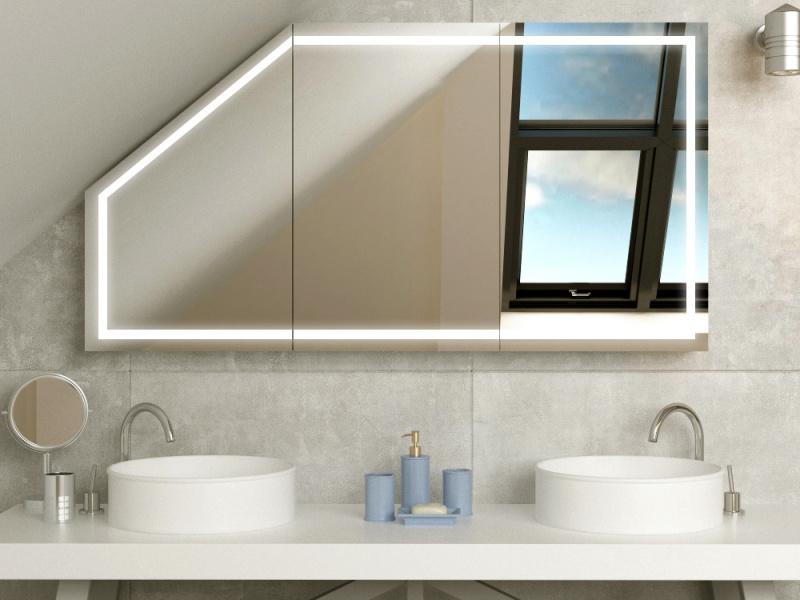 Bild Spiegelschrank fürs Bad mit Schräge Bryne