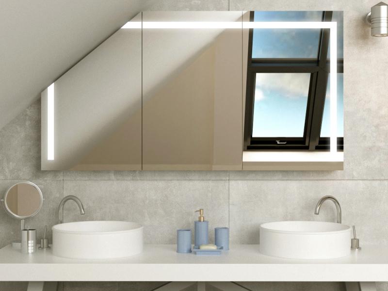 Bild Spiegelschrank LED für Dachschräge Horten