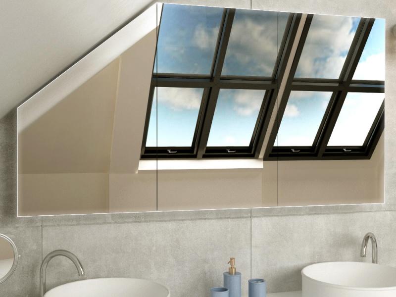LED Badschrank für Dachschräge Ostfold