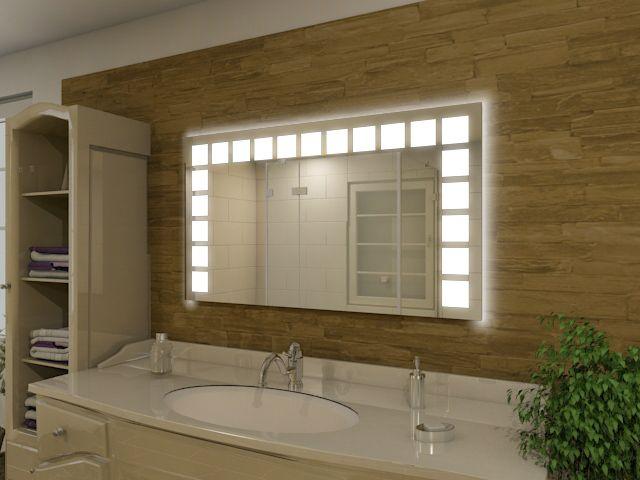 Bild Lichtspiegel mit LED Olea