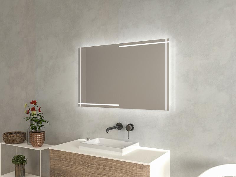 Schicker Badezimmerspiegel LED Halla