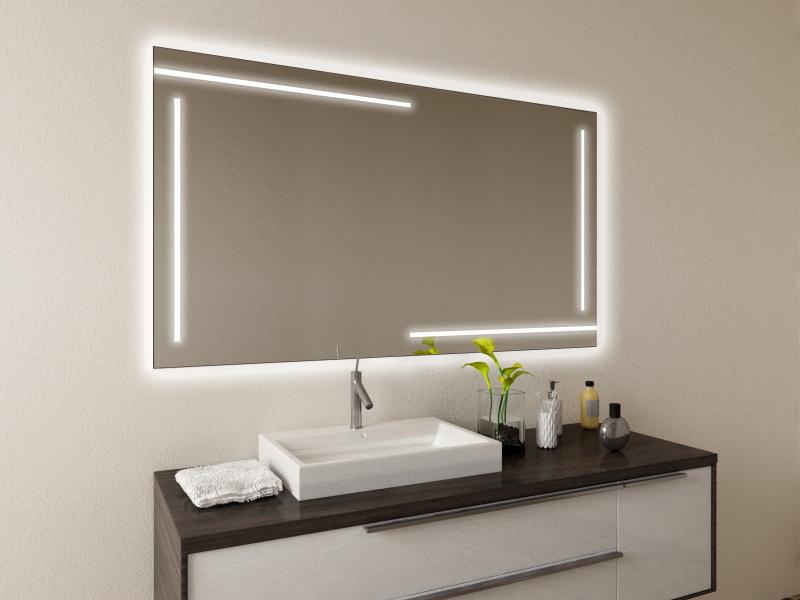 Eleganter Badspiegel mit LED Hildis