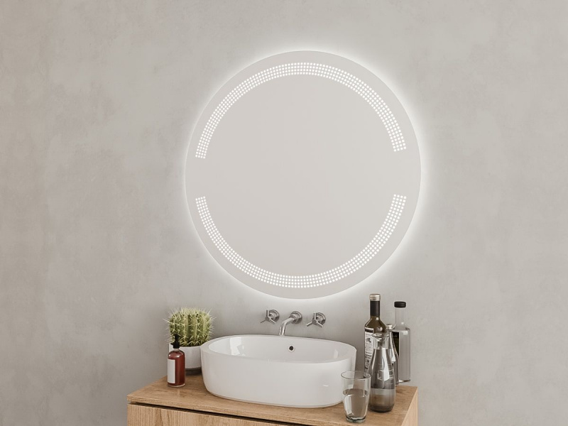 Badezimmerspiegel rund nach Maß Stefano