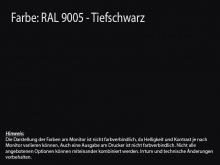 Küchenrückwand schwarz RAL 9005
