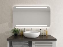 LED Badezimmerspiegel mit runden Ecken Tjorbe