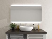 LED Lichtspiegel mit runden Ecken Snorre