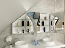 Spiegelschrank für Dachschräge Buskerud