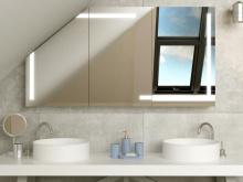 LED Spiegeschrank für Dachschräge Herleva