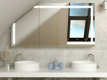 Badezimmerschrank LED für Dachschräge Horten