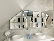 LED Spiegelschrank nach Maß für Dachschräge Larvik