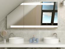 Design Spiegelschrank für Dachschräge Lulea
