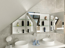 Design Schrank Bad für Dachschräge Lulea