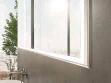 Design Spiegelschrank mit Leuchtprofil Sander