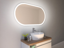 Spiegel mit Rundung Molde