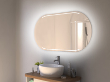 Spiegel LED mit Rundung Skien