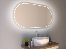 LED Spiegel mit Rundung Stord