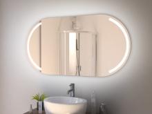 Spiegel Bad LED mit Rundung Svelvik