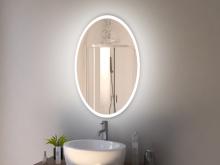 ovaler LED Spiegel Bad Odda