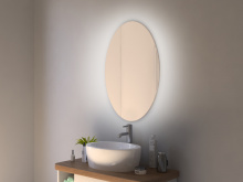 ovaler Spiegel Hintergrundbeleuchtung Roros