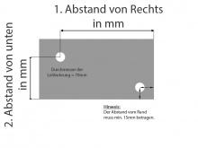 Glasrückwand Küche satiniert Milchglas 6 mm ESG